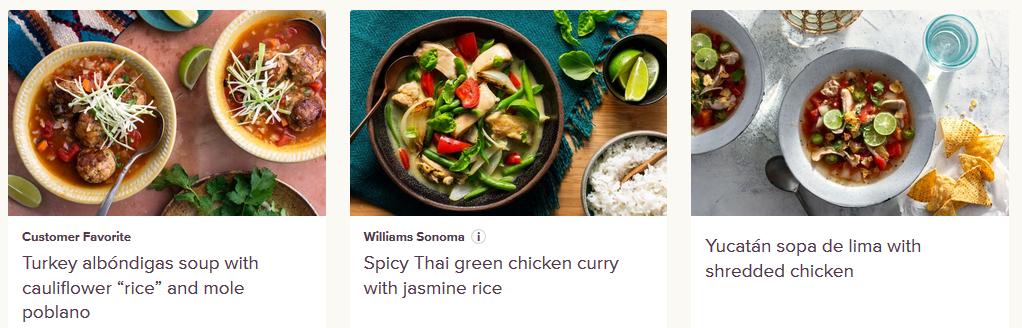 sun basket healthy recipes