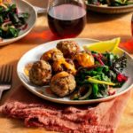 Mediterranean turkey meatballs with red pepper–cashew crema
