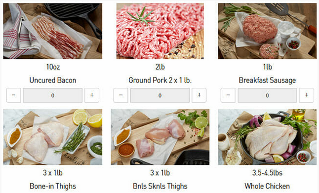butcherbox meat options